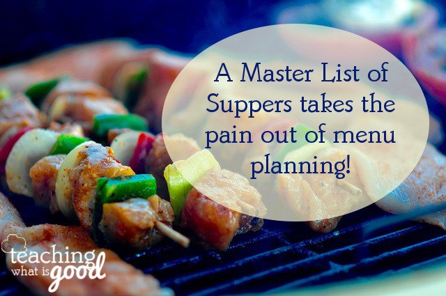 master list of suppers