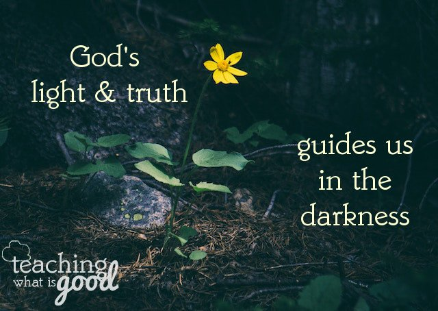His light and truth… what do they mean for us?