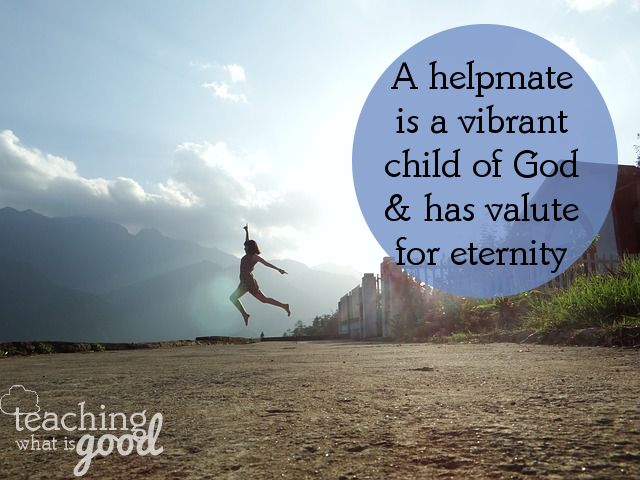 Being a helpmate doesn't make me a doormat, she is a servant of God, not a slave of man.