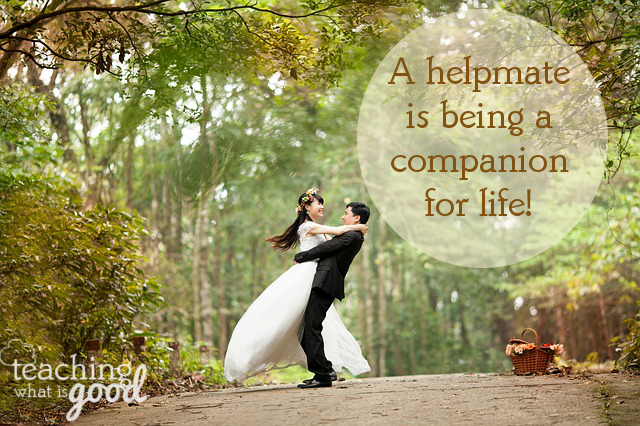 What does it really mean to be a helpmate?