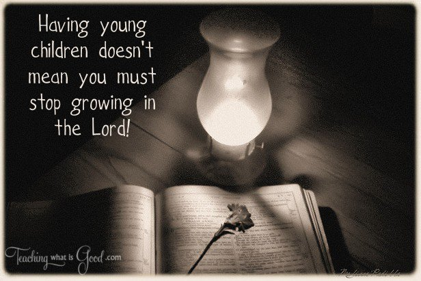 Spiritual growth + babies = impossible?