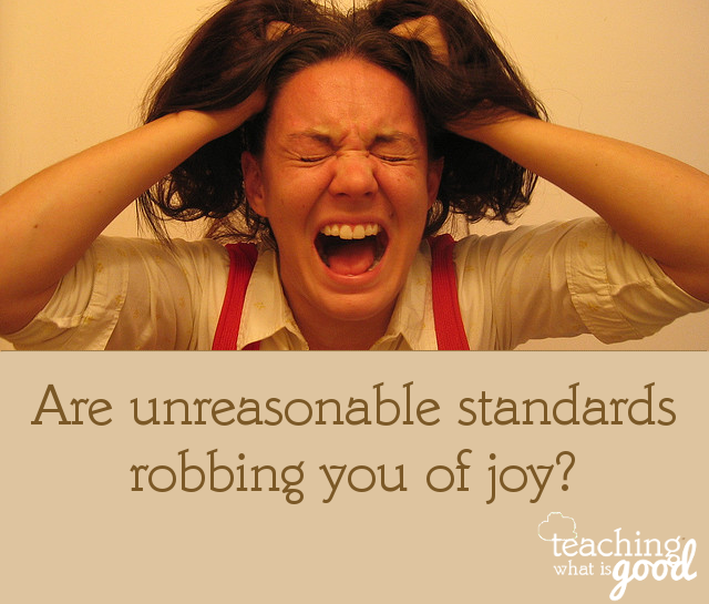 Are unreasonable standards robbing you of joy? Are you creating stress all by yourself?