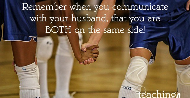 We need to remember that communicating in marriage is as a team.