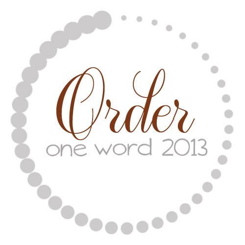 Order: 2013 One Word