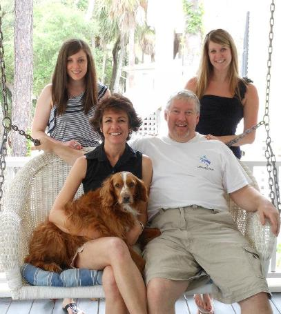 Lori Hatcher and family author Joy in the Journey