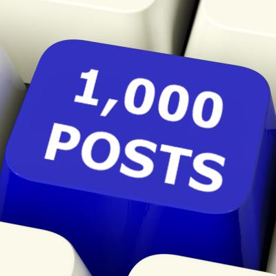 1,000 posts giveaway