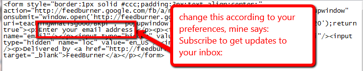 subscribe box information