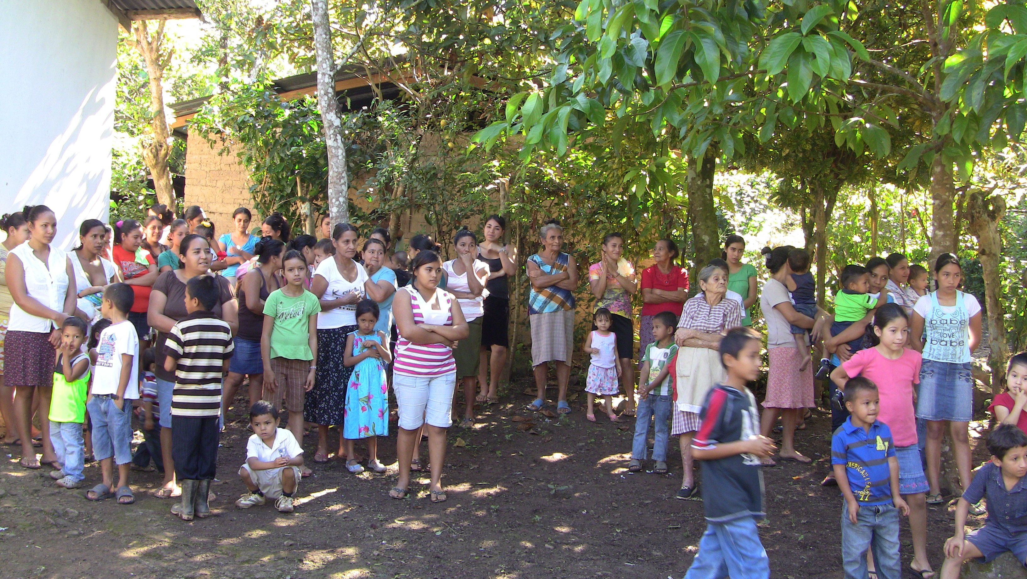 giving away Christmas in Honduras 1