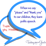 teaching polite speech by our example