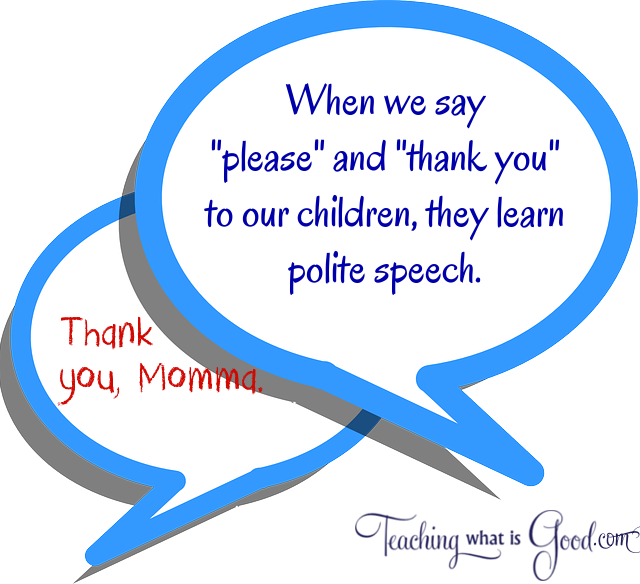 Are you teaching gracious speech to your children?