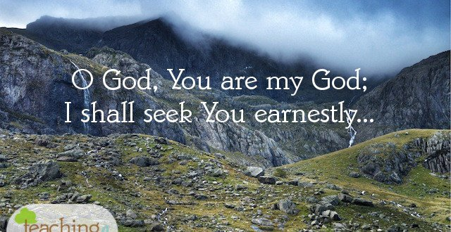 earnestly seeking God