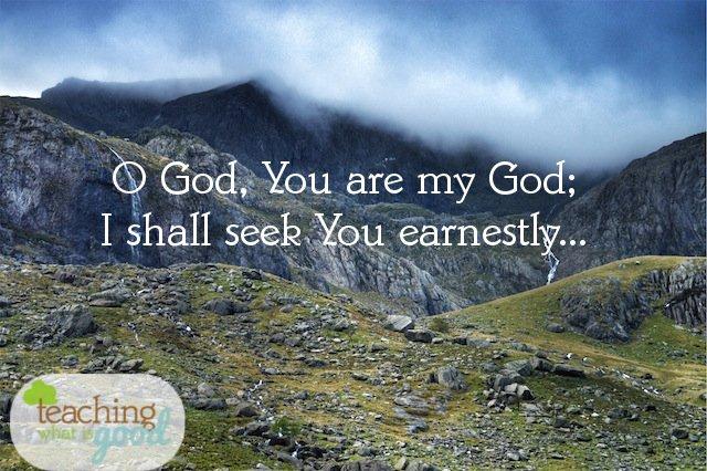 Earnestly will I seek You!