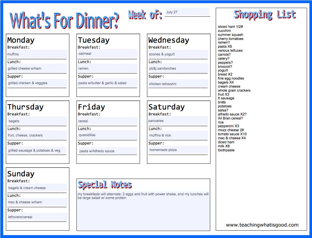 july 27 menu
