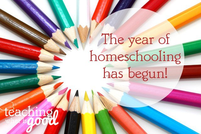 Homeschooling begins this week plus my link-up