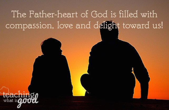 God's Father's heart is tender toward us.