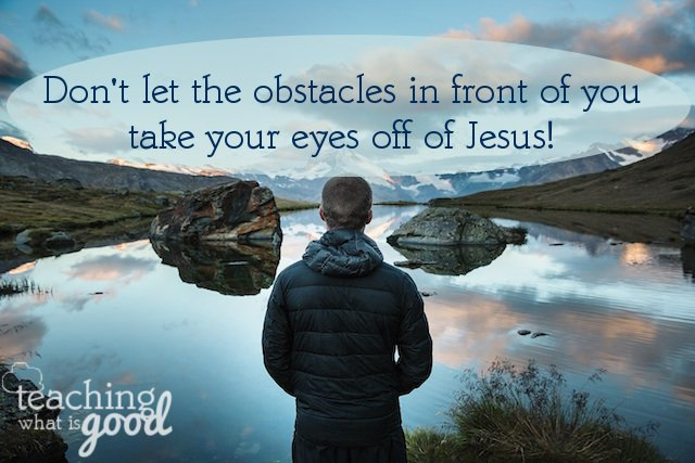 Are we fixing our eyes on Jesus?