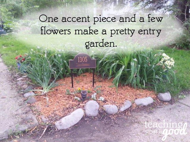 a pretty little garden