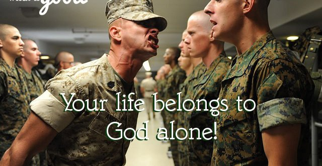 authority in our lives belongs to God alone