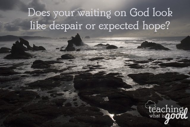 Waiting for God – and trusting in His timing