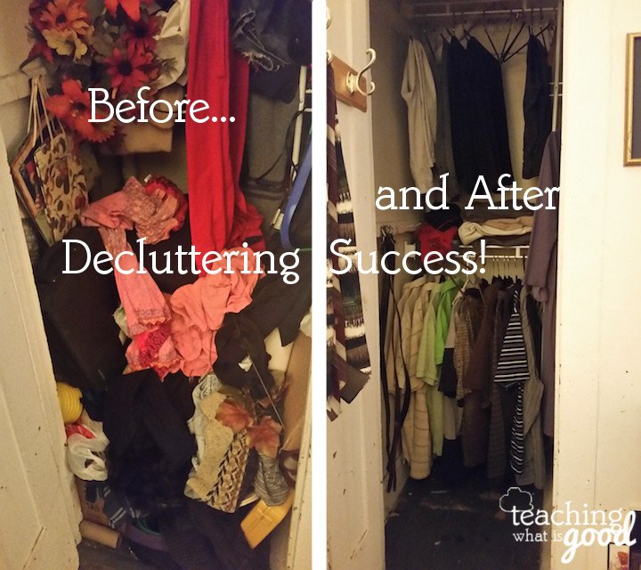 Decluttering the closet – join the fun!