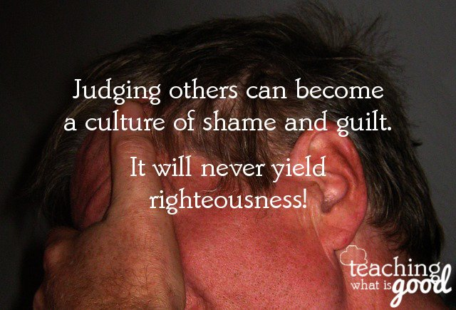 How to defeat a culture of judging in the church?