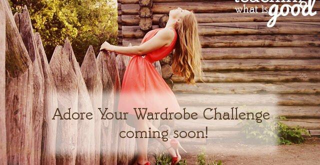 Adore Your Wardrobe Challenge