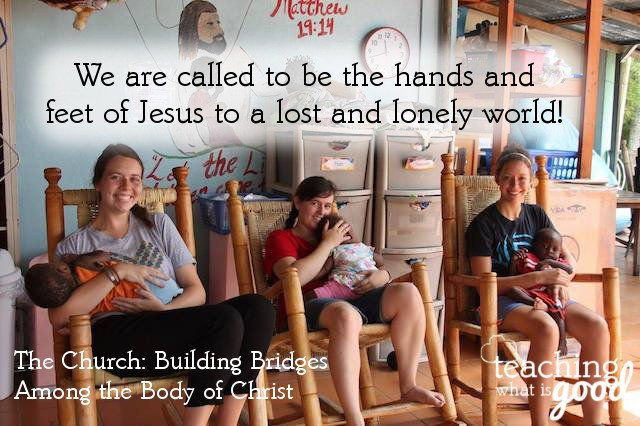 The church is called to be the hands and feet of Jesus to a lost and lonely world!