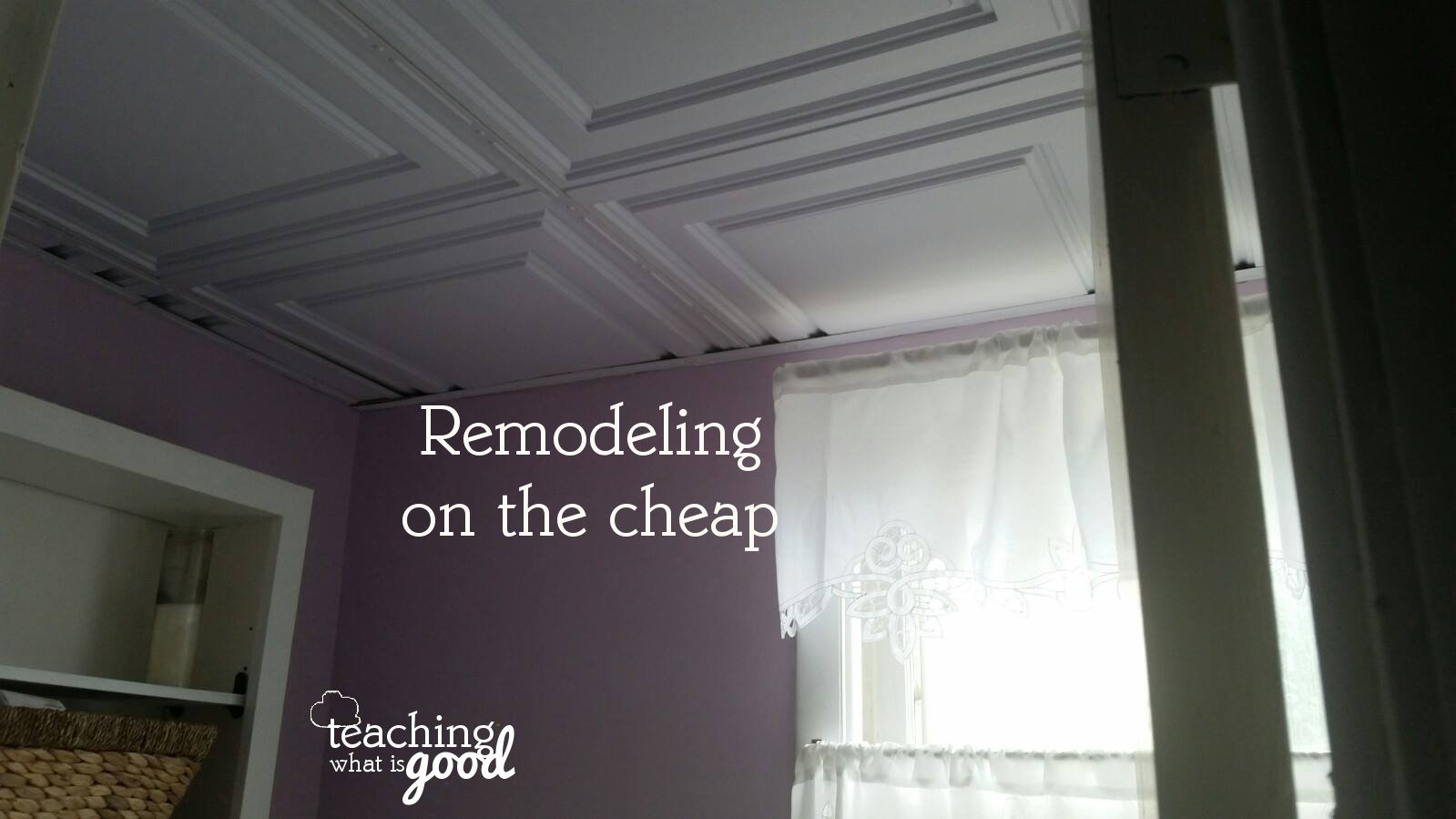 Small bathroom remodel on the cheap – under $400 {Link-up #213}