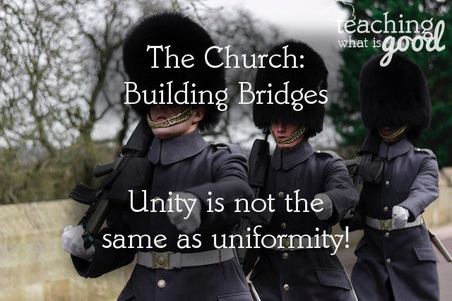 The Church: Unity of faith & hope actually IS possible!