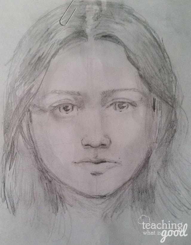 Learning to draw, a first attempt