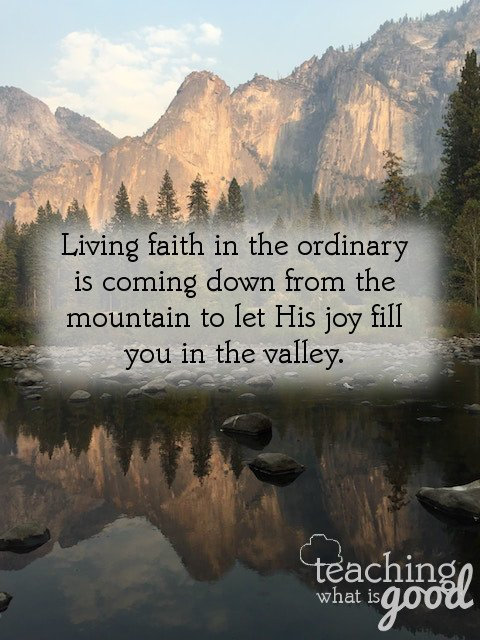 Faith in the ordinary: what does it look like?