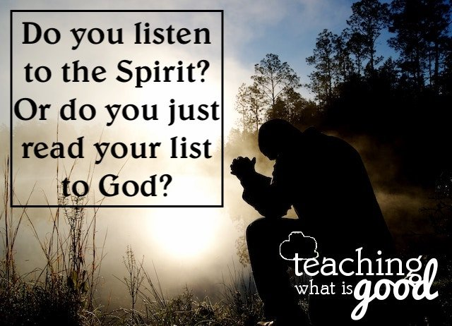 Prayer and listening to the Spirit