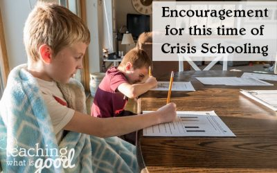 Encouragement for Crisis Schooling moms