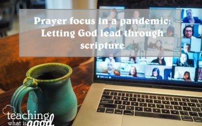Prayer focus in the Pandemic